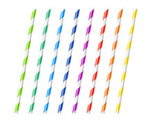 Striped Colorful Drinking Stra...