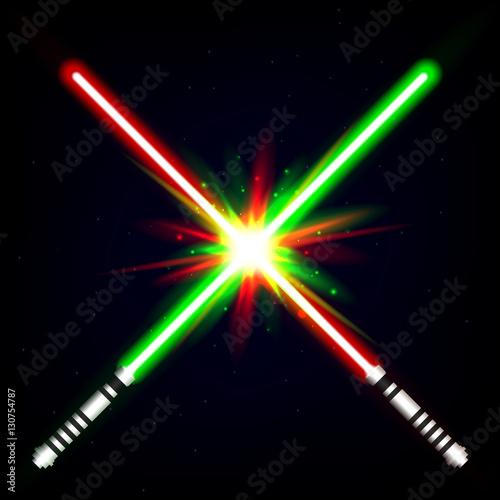 Photo  Crossed light swords