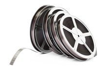 Row Of Film Reels, 3D Rendering