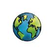 World earth map Design Vector illustration, white background