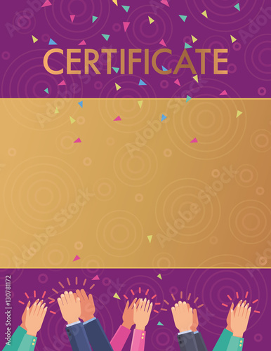vector pattern recognition certificate congratulation hands clapping