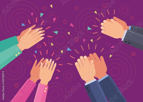 Fotografía  Vector applause clap hands