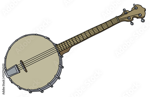 Old four strings banjo Canvas Print