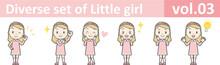 Diverse Set Of Little Girl , E...
