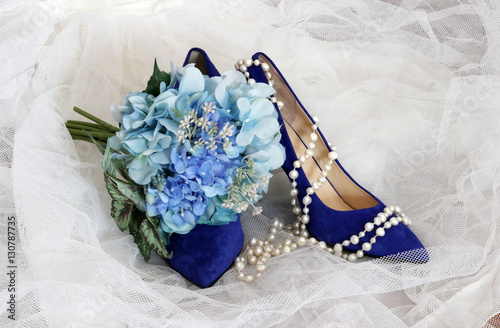 Fotografie, Obraz  Bright shoes for stylish bride