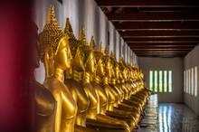 Buddha Statue At Wat Phra Sri Rattana Mahathat Temple, Phitsanulok, Thailand