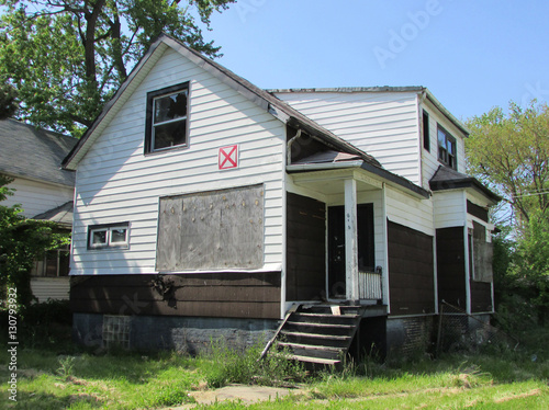 Abandoned home in the Roseland neighborhood, Chicago's South Side Canvas Print