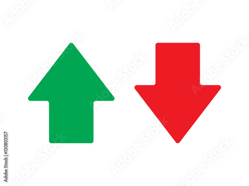 Up and down arrow vector isolated Poster