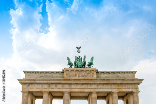 Photo  Brandenburg Gate (Brandenburger Tor), famous landmark in Berlin,