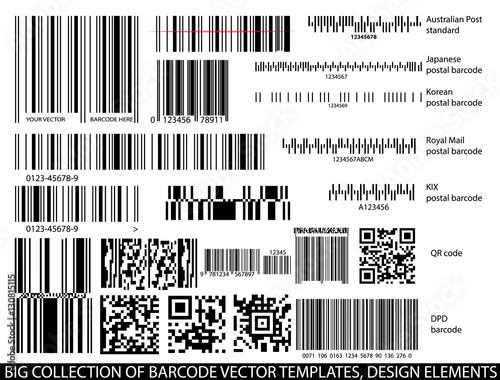 barcode templates vector set buy this stock vector and explore