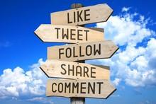 Wooden Signpost - Social Media...