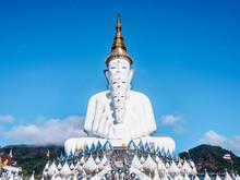 Phetchabun, Thailand - November 26, 2016 : Five Buddhas At Wat Phasornkaew Temple, Khao Kho In Phetchabun Province, Thailand