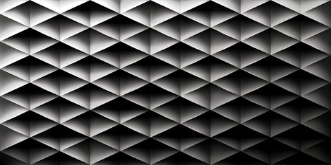 Panel SzklanyRetro background, triangles and rhombs, mesh gradient, transition from light to dark, vector wallpaper, black pattern