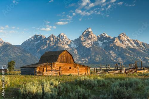 Fotomural Barn at Mormon row Grand Teton National Park