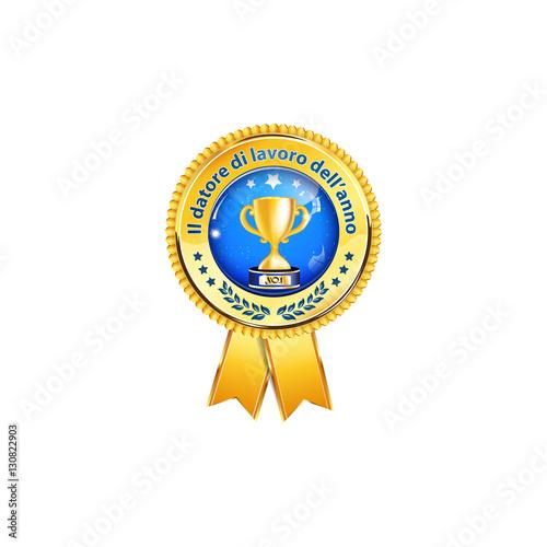 Fotografia  Il datore di lavoro dell'anno - affari icona / Premio nastro distinzione per le aziende