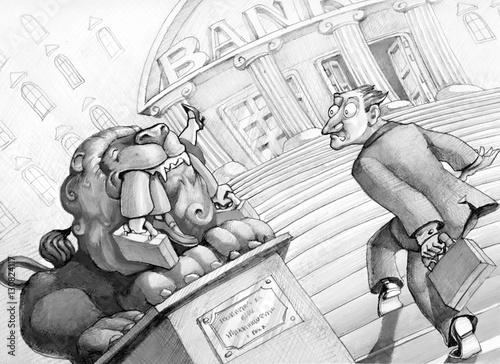 Fotomural  dangerous banks