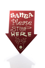 Santa Please Stop Here Sign Ca...