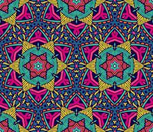Abstract Star Motif Seamless P...
