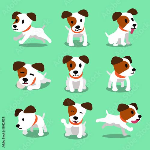 Fotografie, Obraz  Cartoon character jack russell terrier dog poses