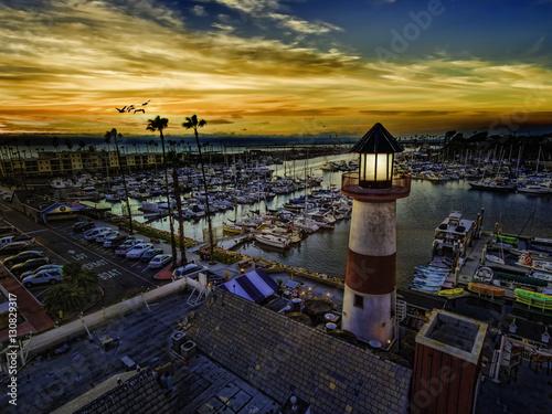 Photo Oceanside Harbor just after sunset