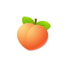Isolated Peach Illustration