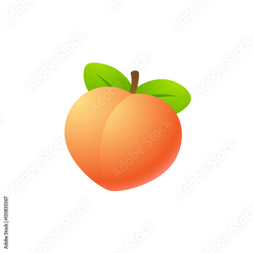 Leinwand Poster Isolated peach illustration