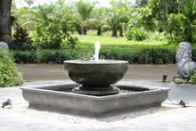 Ceramic Basin Fountain In The ...