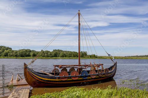 Fotografia, Obraz  Ладья на реке Волхов на фестивале-реконструкции Ладогафест