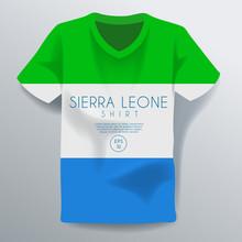 Sierra Leone Shirt : National Shirt Template : Vector Illustration