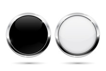 Round Buttons With Metal Frame...
