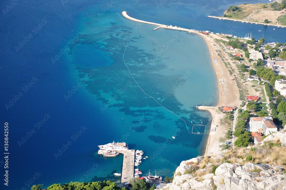 Fototapety, obrazy: Chorwacja - Panorama miasta Omiś