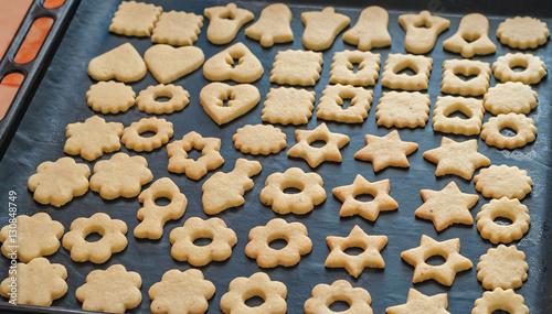 Traditional Czech Christmas Linzer Cookies Sweets Homemade Baking