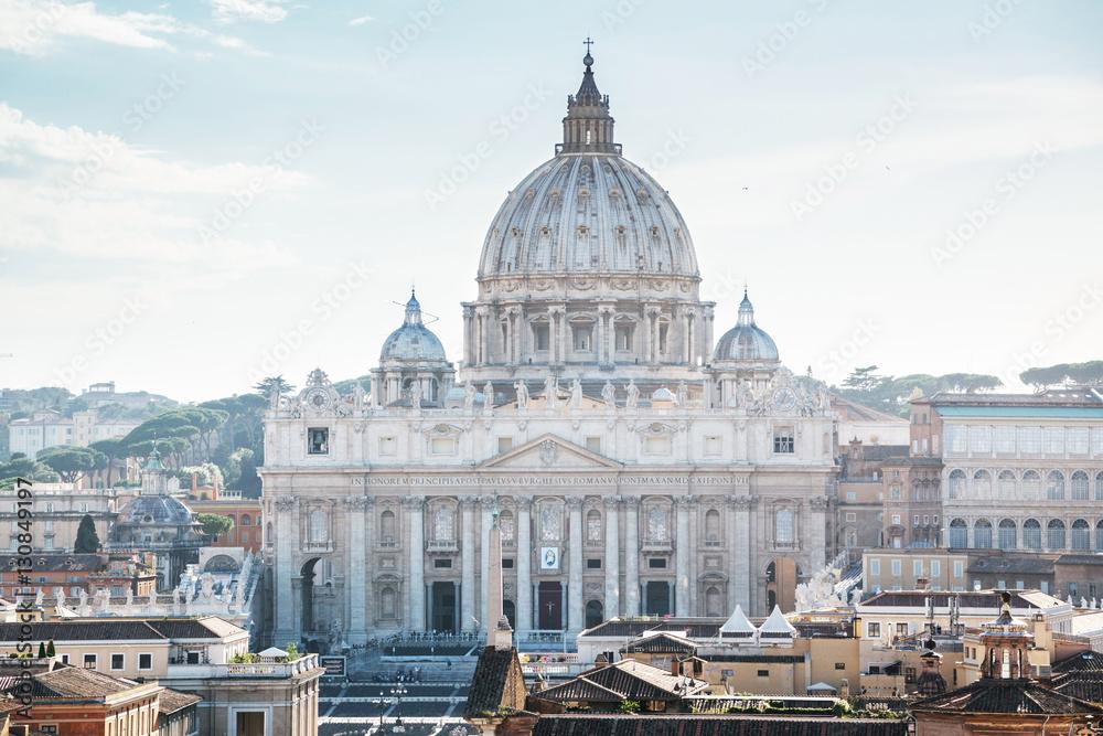 Fototapety, obrazy: St Peter's basilica in Vatican, Rome