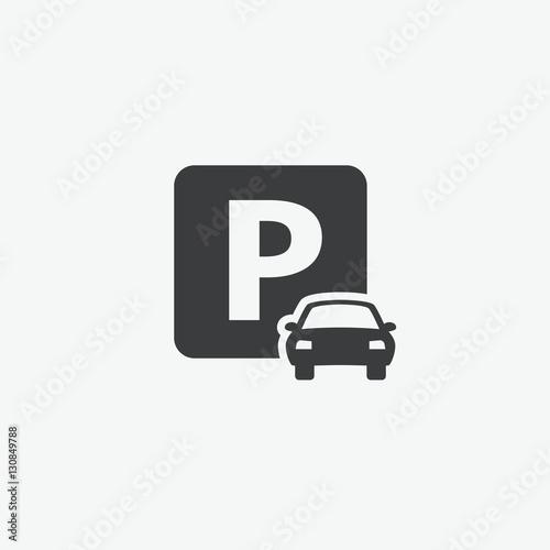 Fotografie, Obraz Car Parking Icon