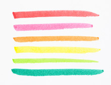 Hand Drawn Colorful Marker Str...