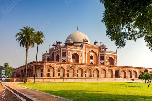 Autocollant pour porte Delhi Humayun's Tomb in New Delhi, India