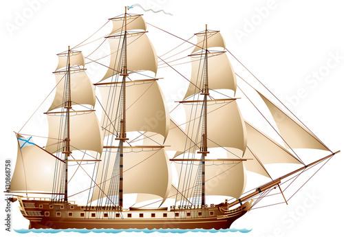 In de dag Schip Frigate sailing warship