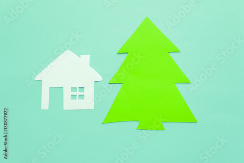Poster Roe Paper house and Christmas tree.