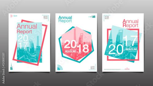 Fotografía  annual report 2017,2018,2019, template layout design