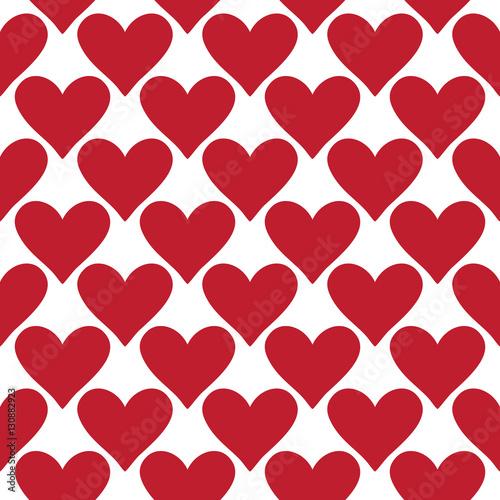 Seamless Vector Heart Pattern Repeatable Valentine Wallpaper