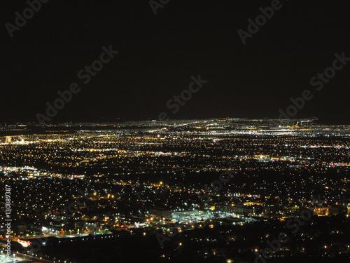 Poster Las Vegas Las Vegas - Aereal night view