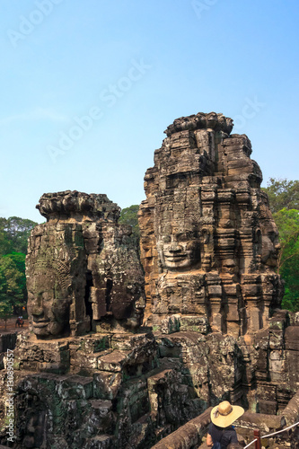 Photo  Face of Bodhisattva Loki State Ice King at Bayon Temple, Cambodi