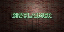 DISCLAIMER - Fluorescent Neon Tube Sign On Brickwork - Front View - 3D Rendered Royalty Free Stock Picture. Can Be Used For Online Banner Ads And Direct Mailers..