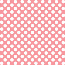 White Polka Dots On Pink Color...