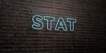 STAT -Realistic Neon Sign On B...