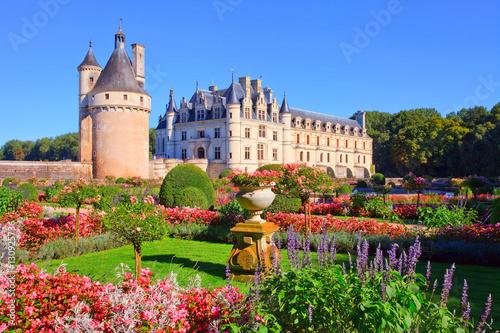 Foto op Plexiglas Kasteel Chenonceau, château de la Loire