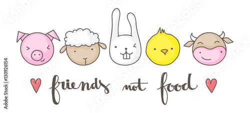Cuadros en Lienzo Friends not food