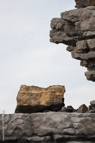 Fotografie, Obraz huge boulder rockfall from cliff