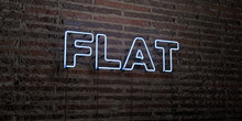 FLAT -Realistic Neon Sign On B...