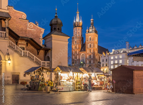 Fototapeta Krakow, Poland, Christmat fairs on main market square obraz